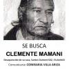 Clemente Mamani, a más de dos meses de su desaparición